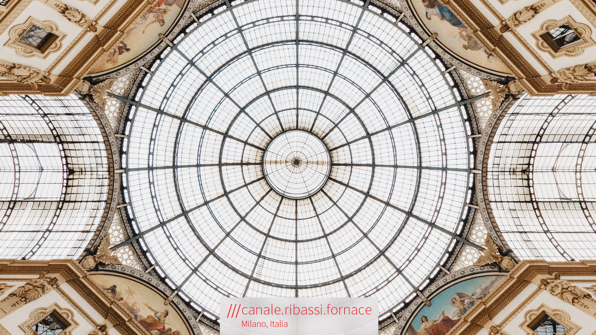 Italian style architecture of a glass roof