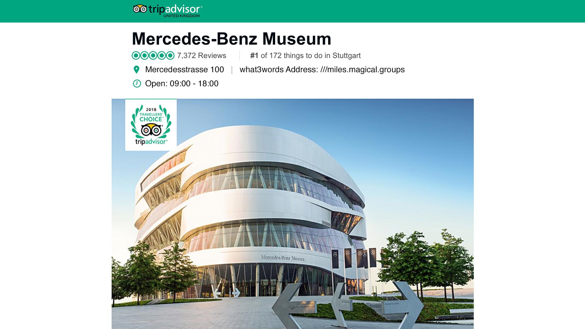 trip advisor Mercedes - Benz museum