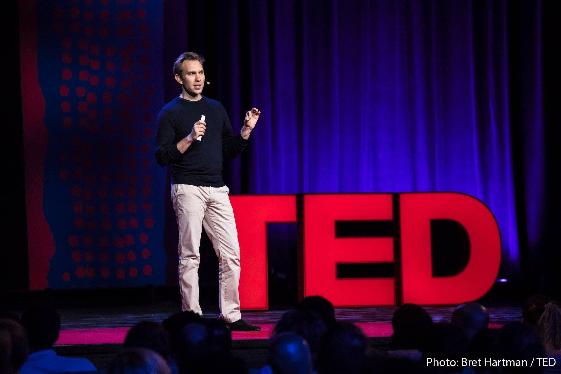 Chris Sheldrick, CEO, giving ted talk