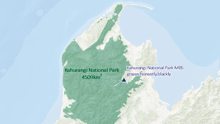 Map of a national park