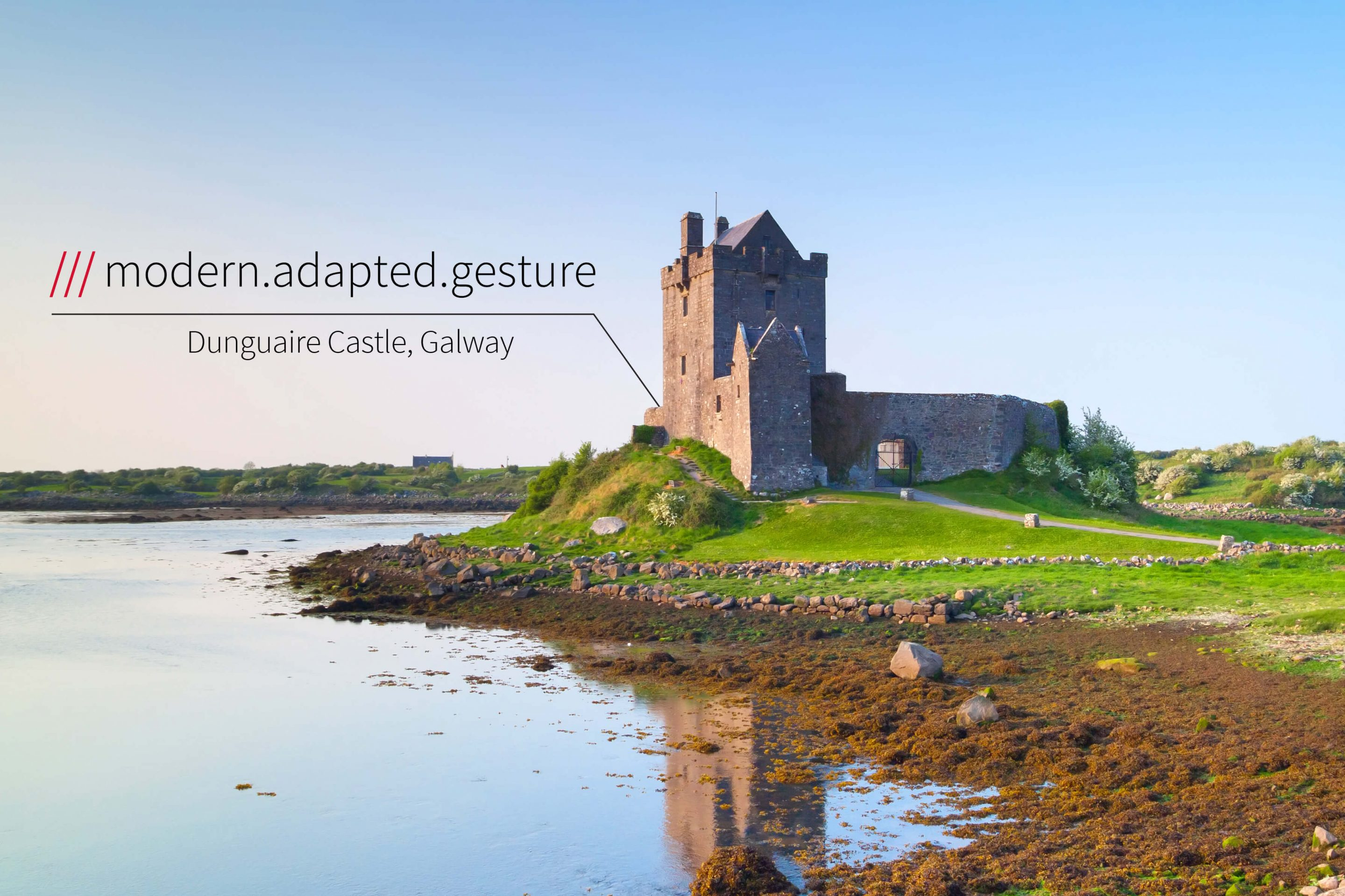historic castle on edge on beach at 3 words location modern.adapted.gesture