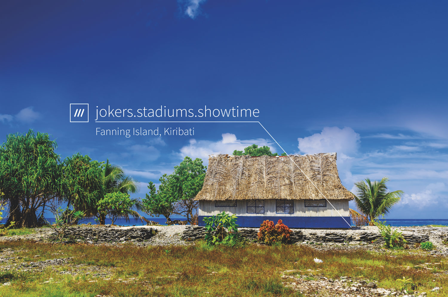 beach house on sandy grass in tropical area at 3 word address jokers.stadiums.showtime