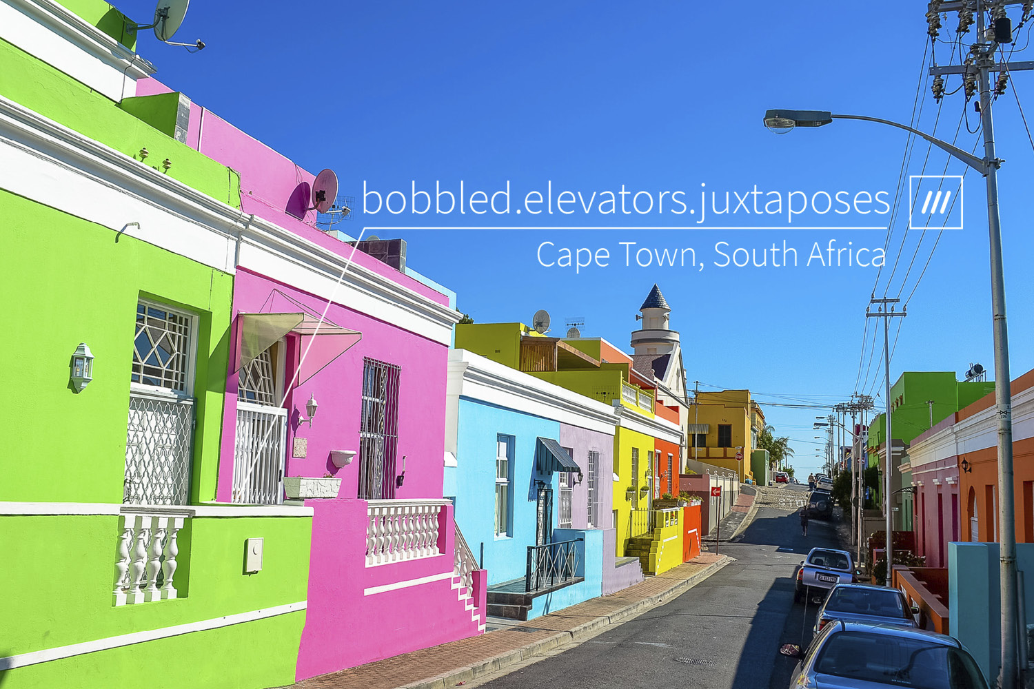 bright and colour houses on sunny day at 3 words address bobble.elevators.juxtaposes