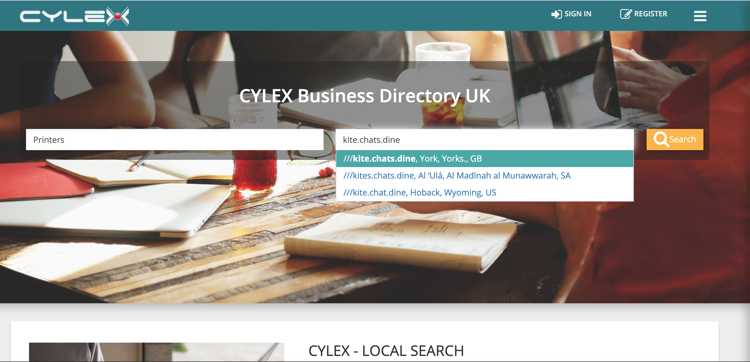 Digital business directory Cylex integrates what3words