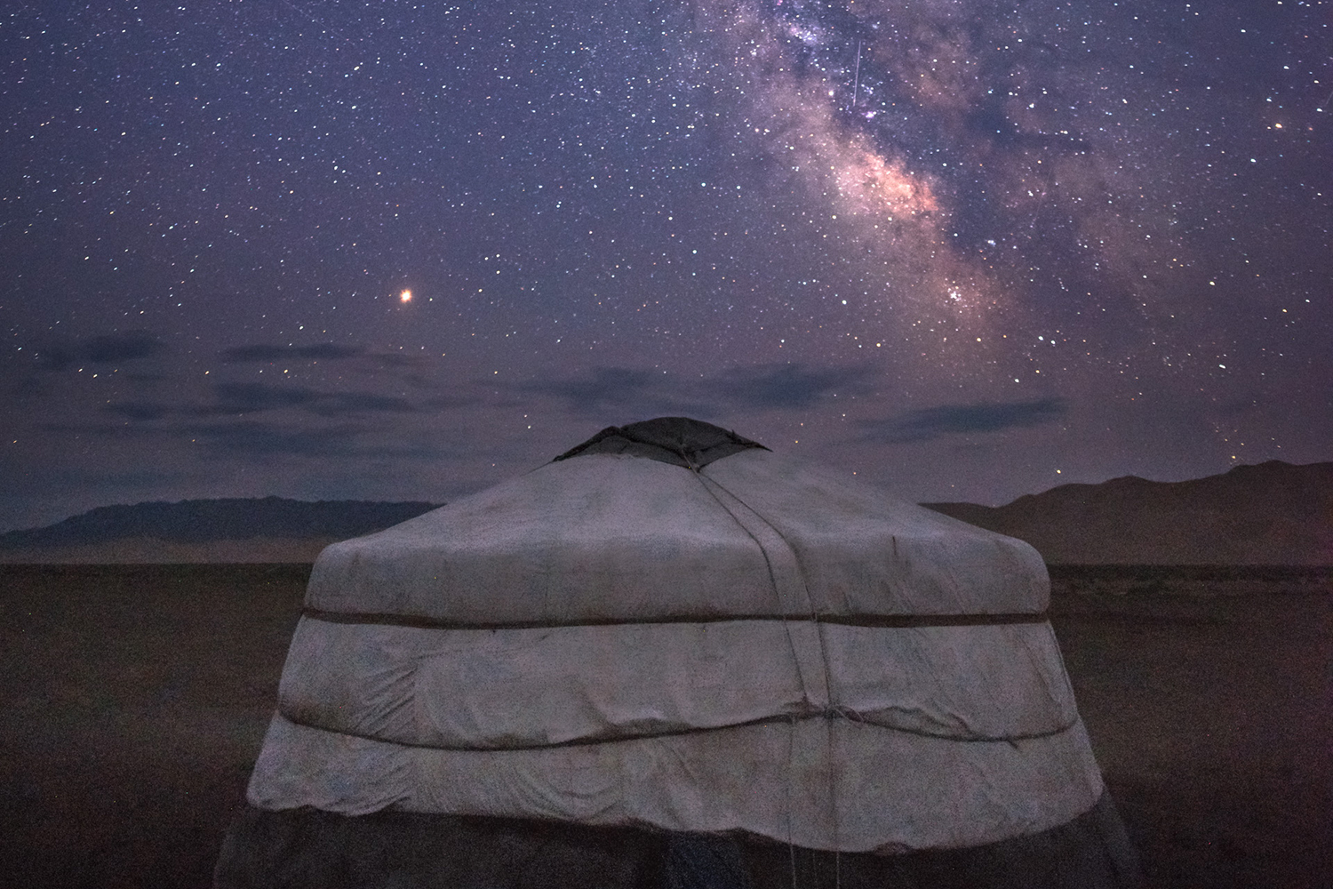 tent under a starry sky