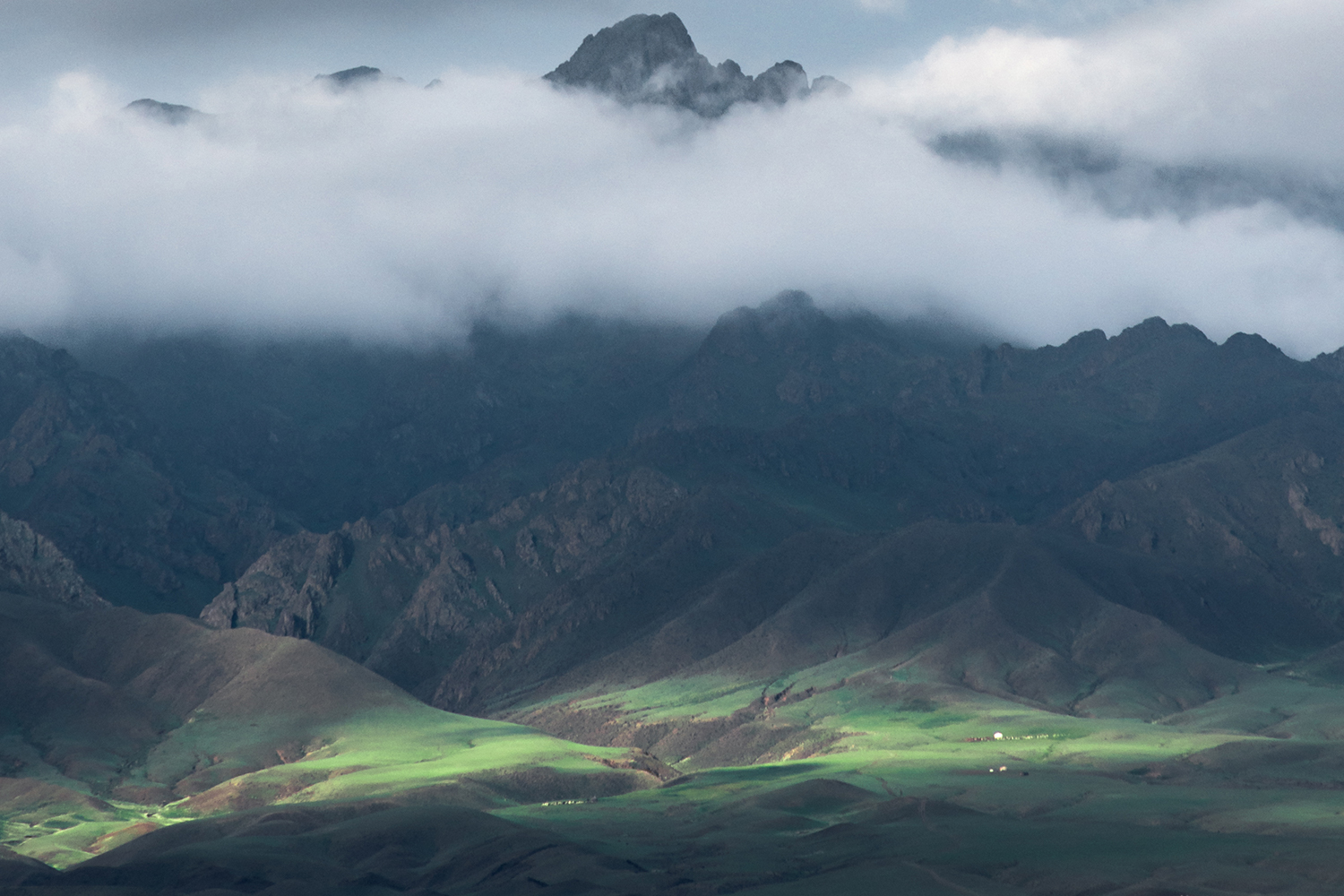 mountainous landscape on a cloudy day