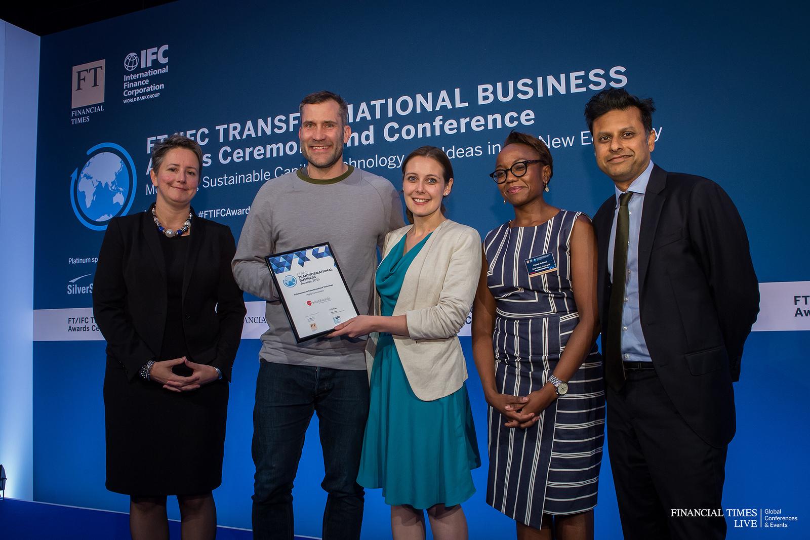 Giles Rhys Jones, CMO, receiving an award