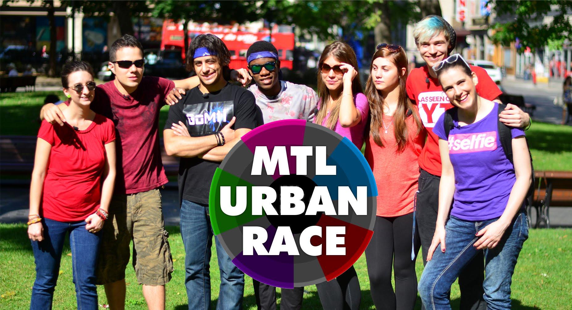 MTL urban race people posing