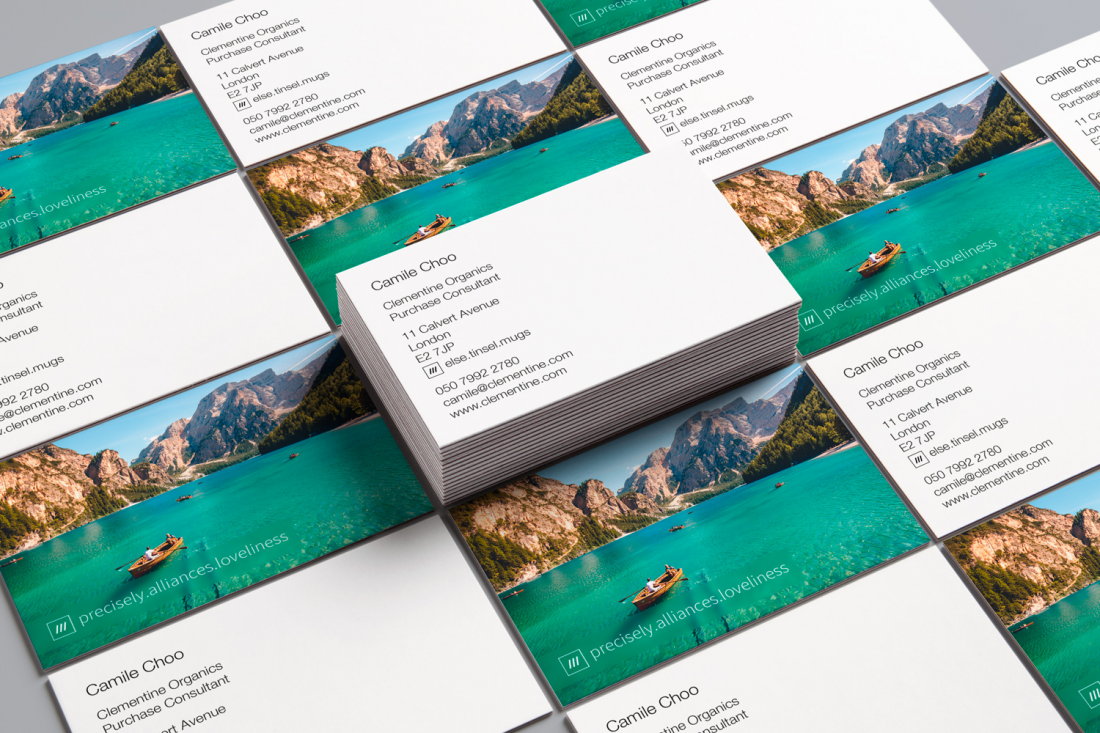 personalised business cards with a what 3 words address