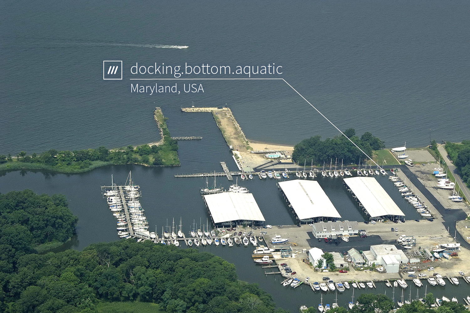 boats docked at a port at 3 word address docking.bottom.aquatic