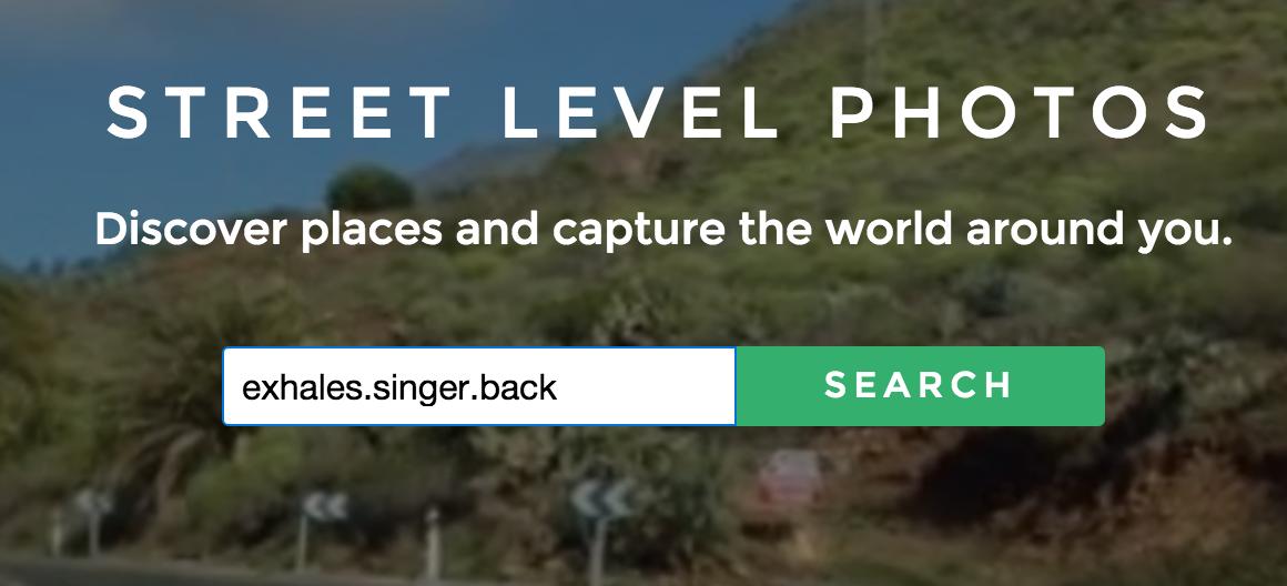 Mapillary search