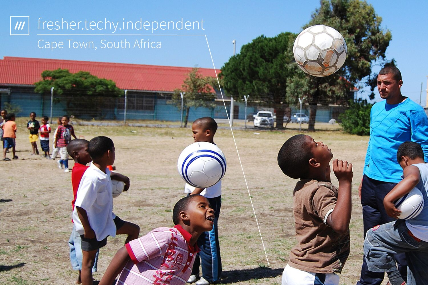 kids playing with football at 3 word address fresher.techy.independent