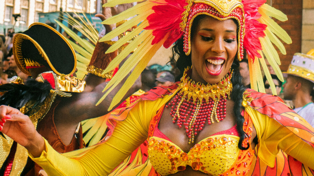 Woman dressed up for carnival