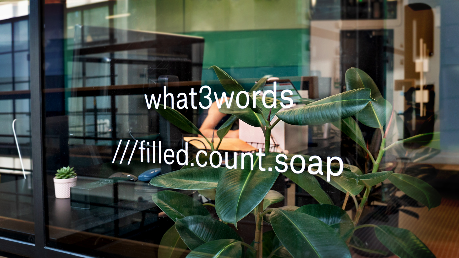 personalised what 3 words sticker