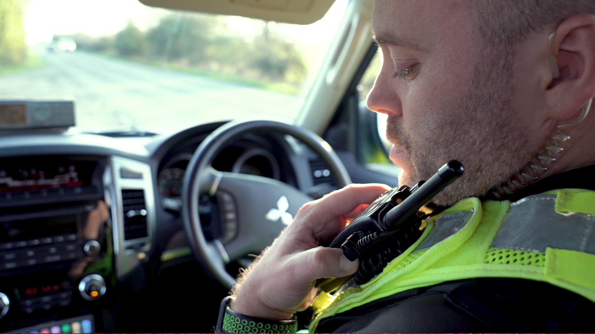 Emergency response officer responding to 999 call