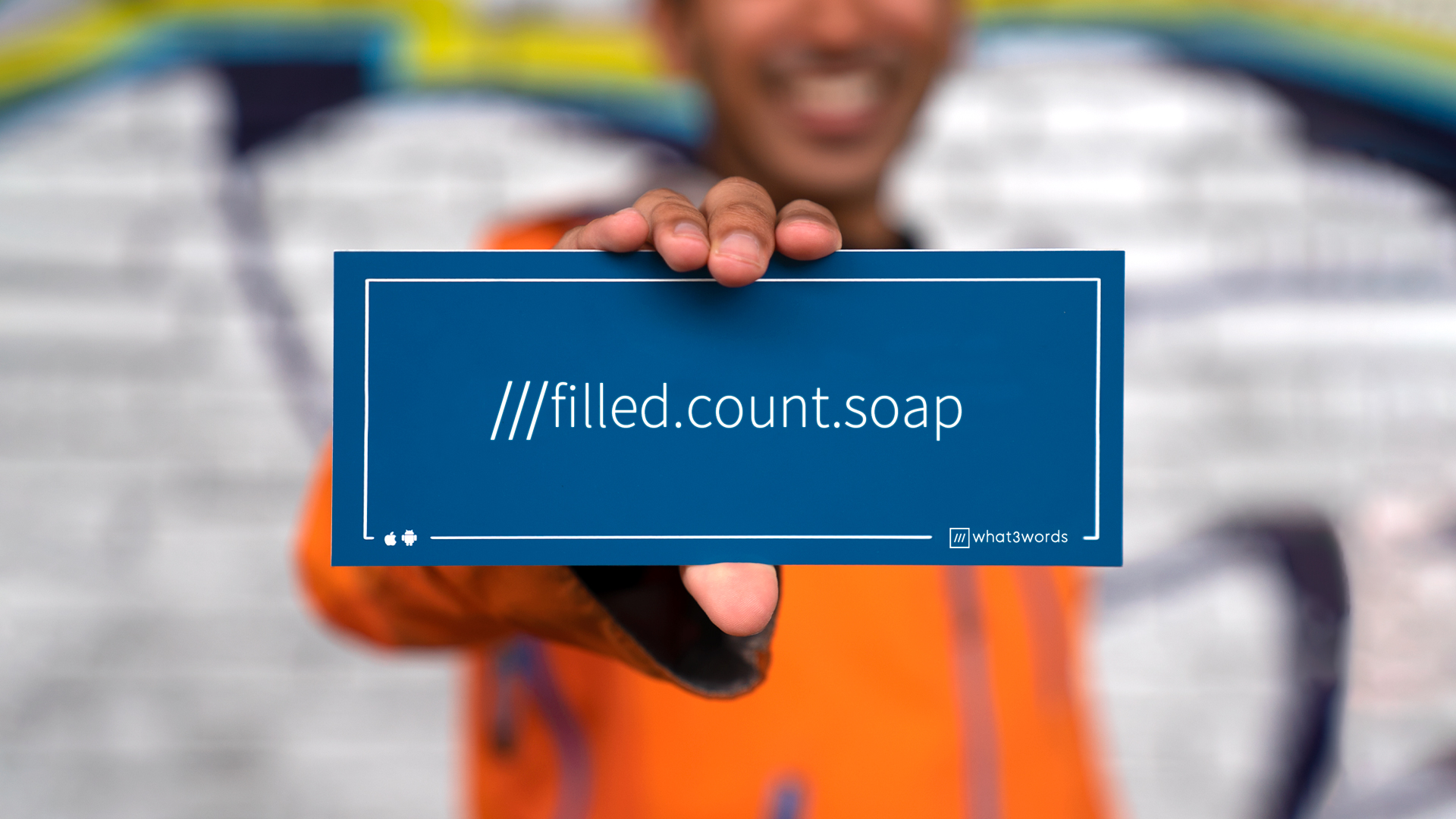 Personalised sign 'filled.count.soap'