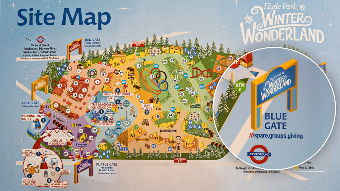 Winter Wonderland site map