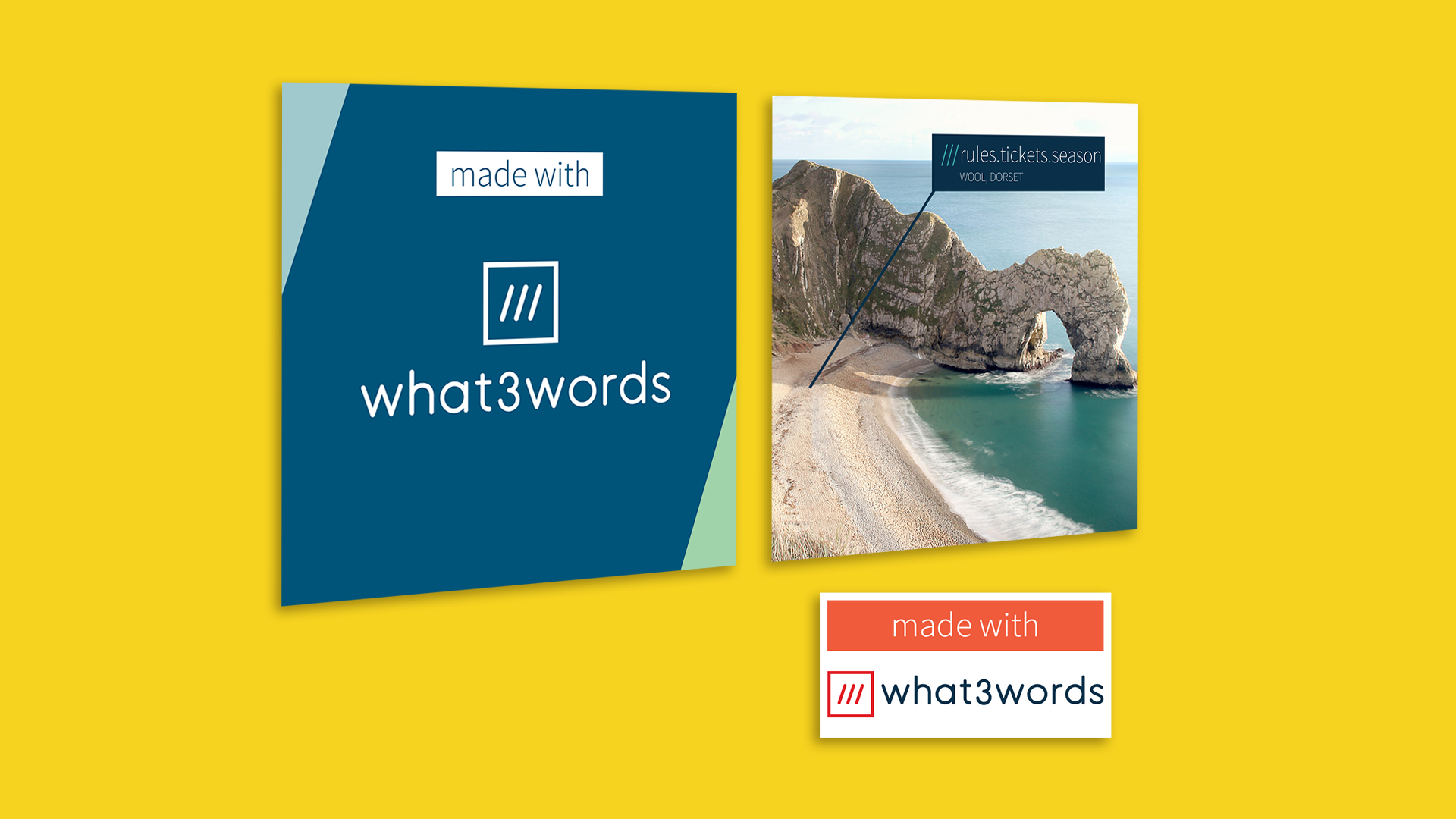 collage of images 'made with' what 3 words