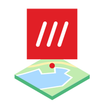 what 3 words products mapsite logo