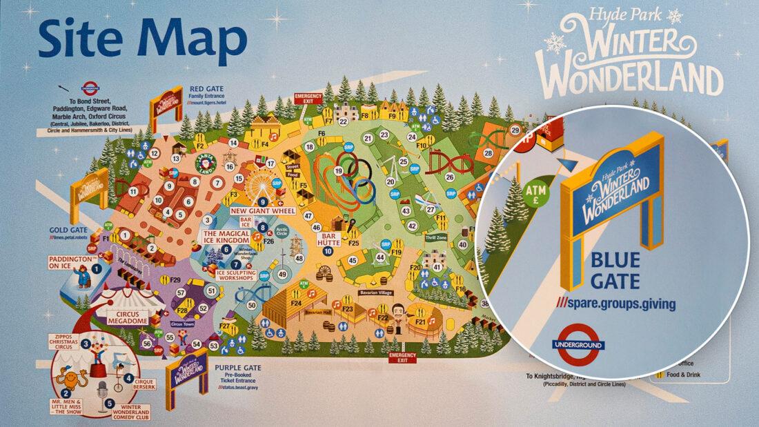 Winter Wonderland site map