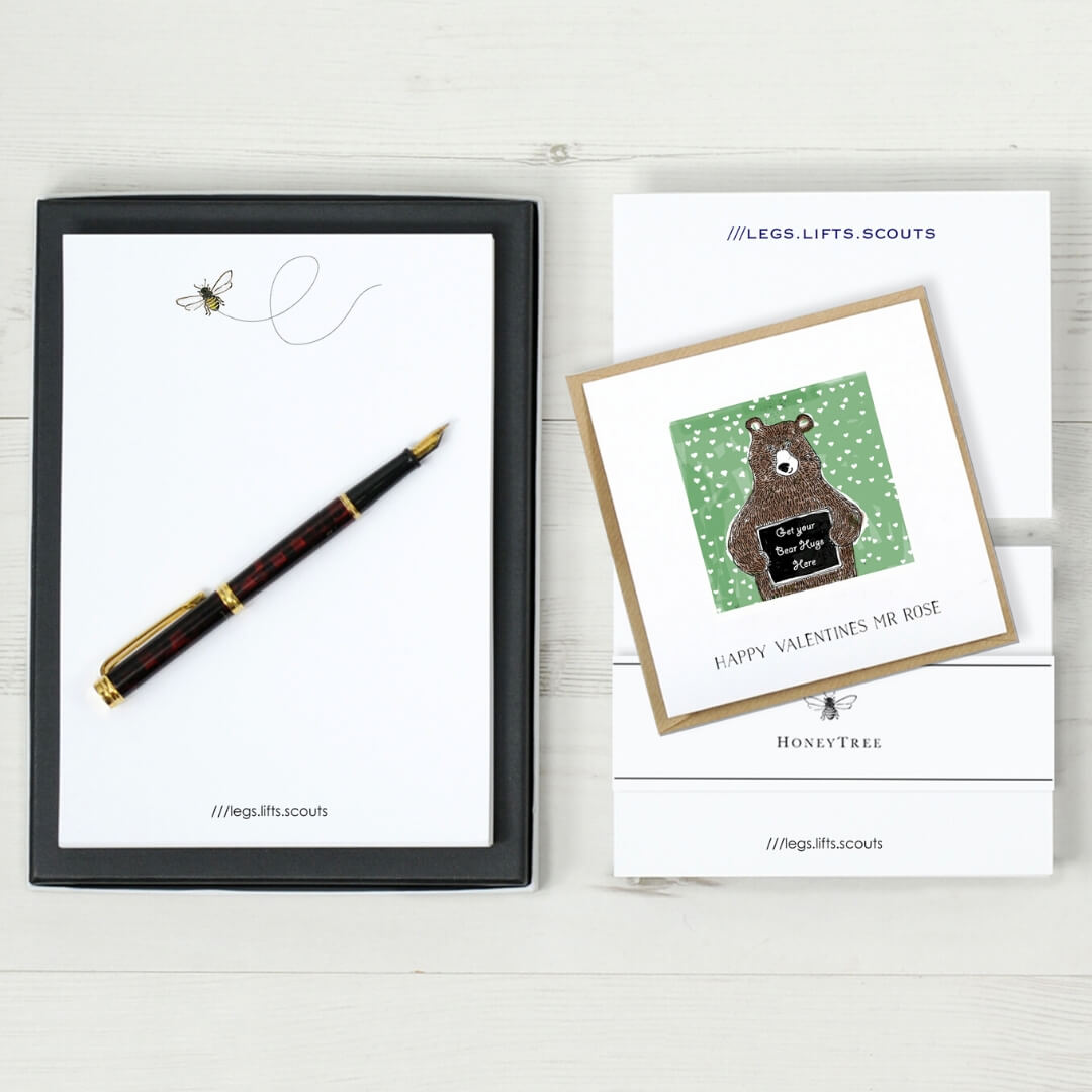 Personalised greeting card by Honey Tree Publishing with a what 3 words