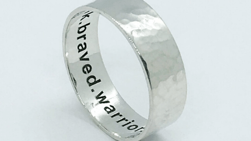 Personalised what3words ring