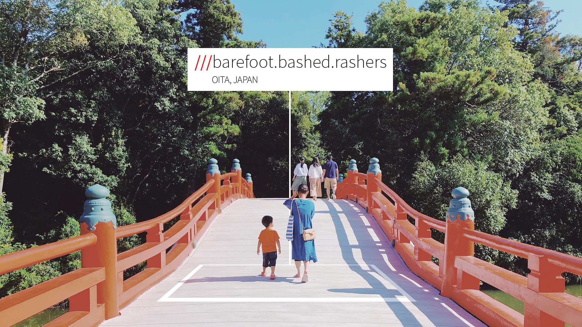 Japanese bridge at 3 word address barefoot.bashed.rashers