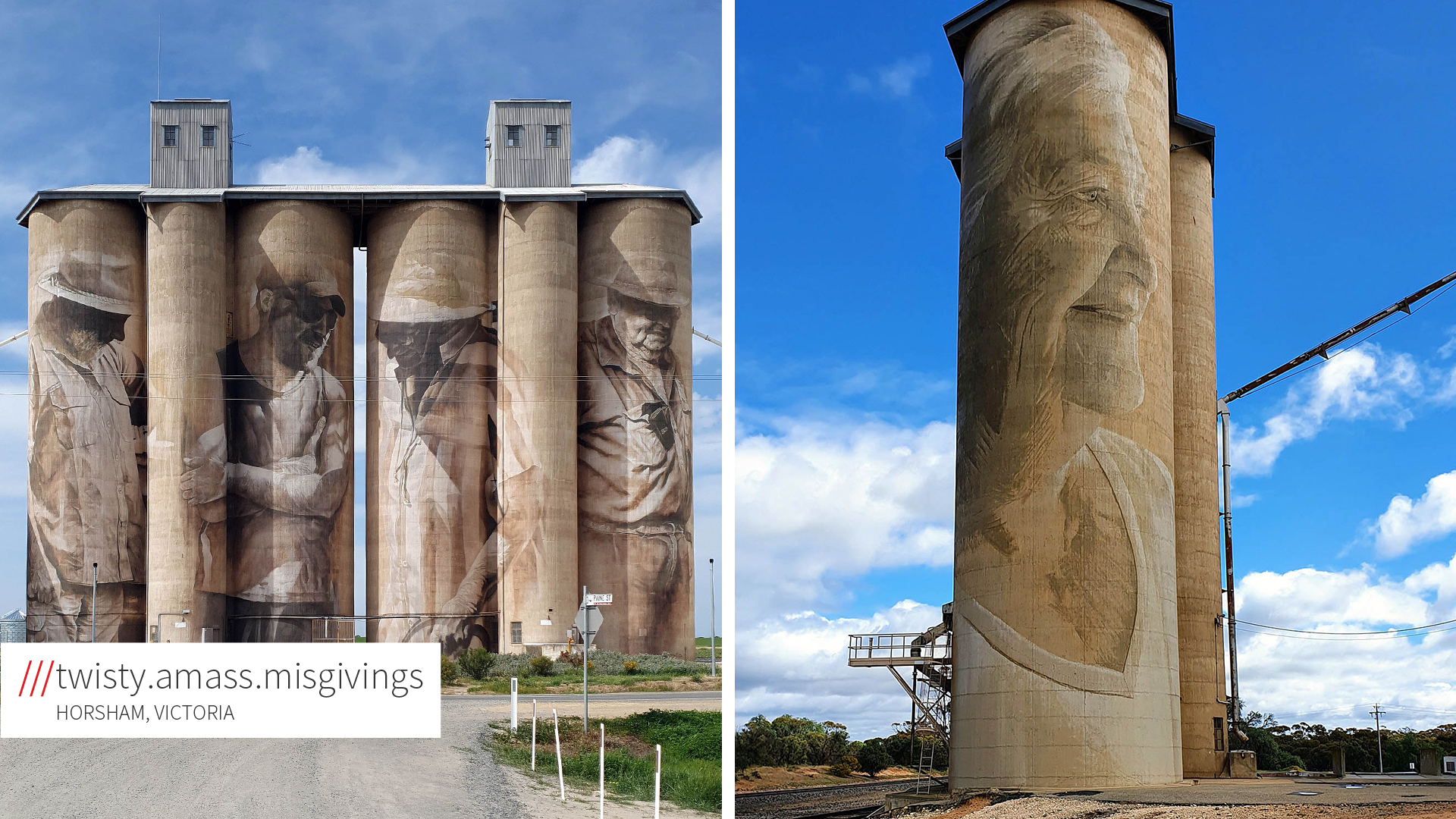 Silos with imagery