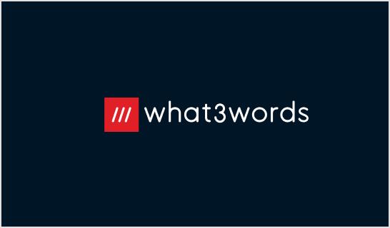 what3words Logo - Dark (Global)