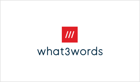what3words Logo - Stacked (Global)
