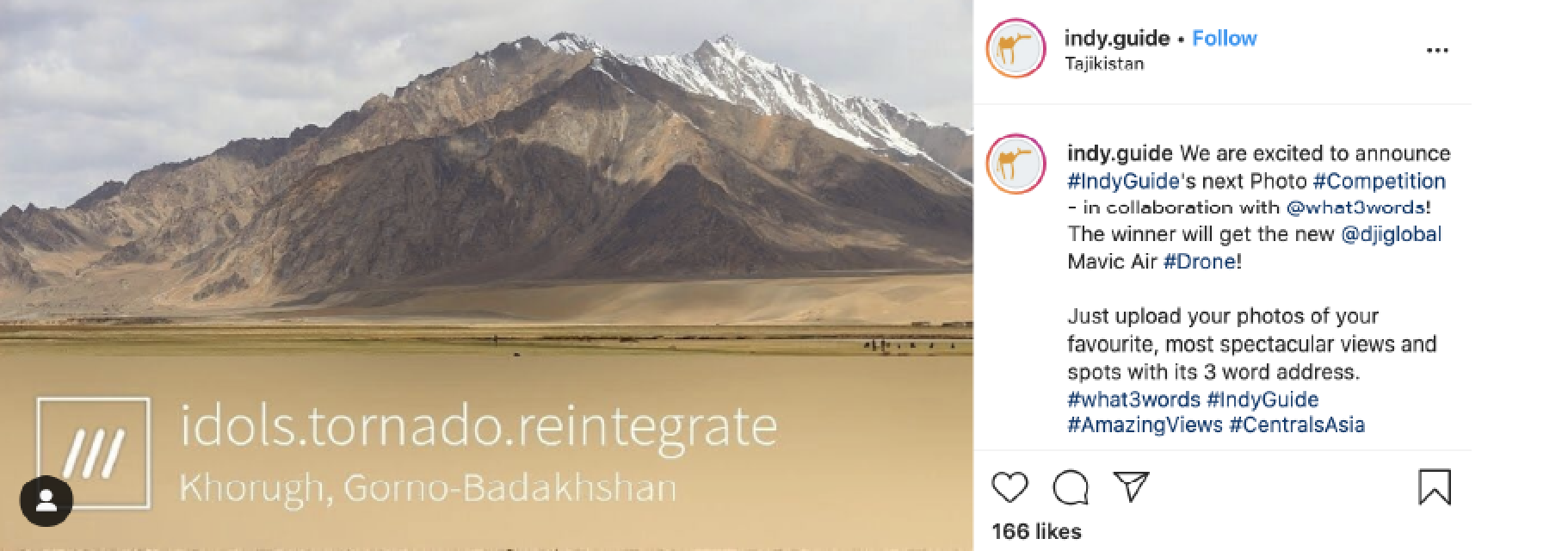 Indy Guide shares winning what3words photo competition shot