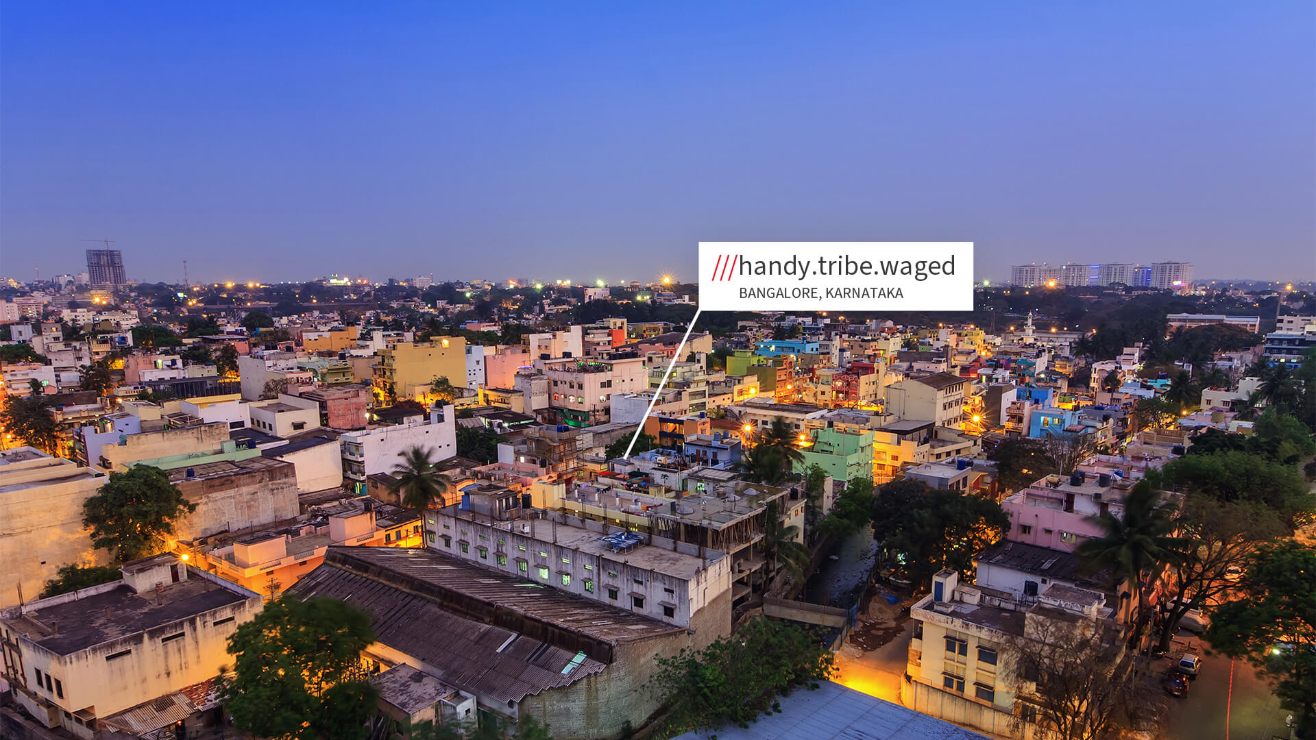Bangalore travel accommodation with what3words address