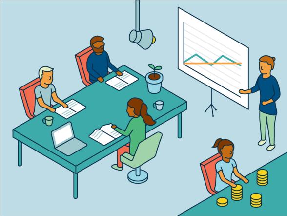 Finance team illustration