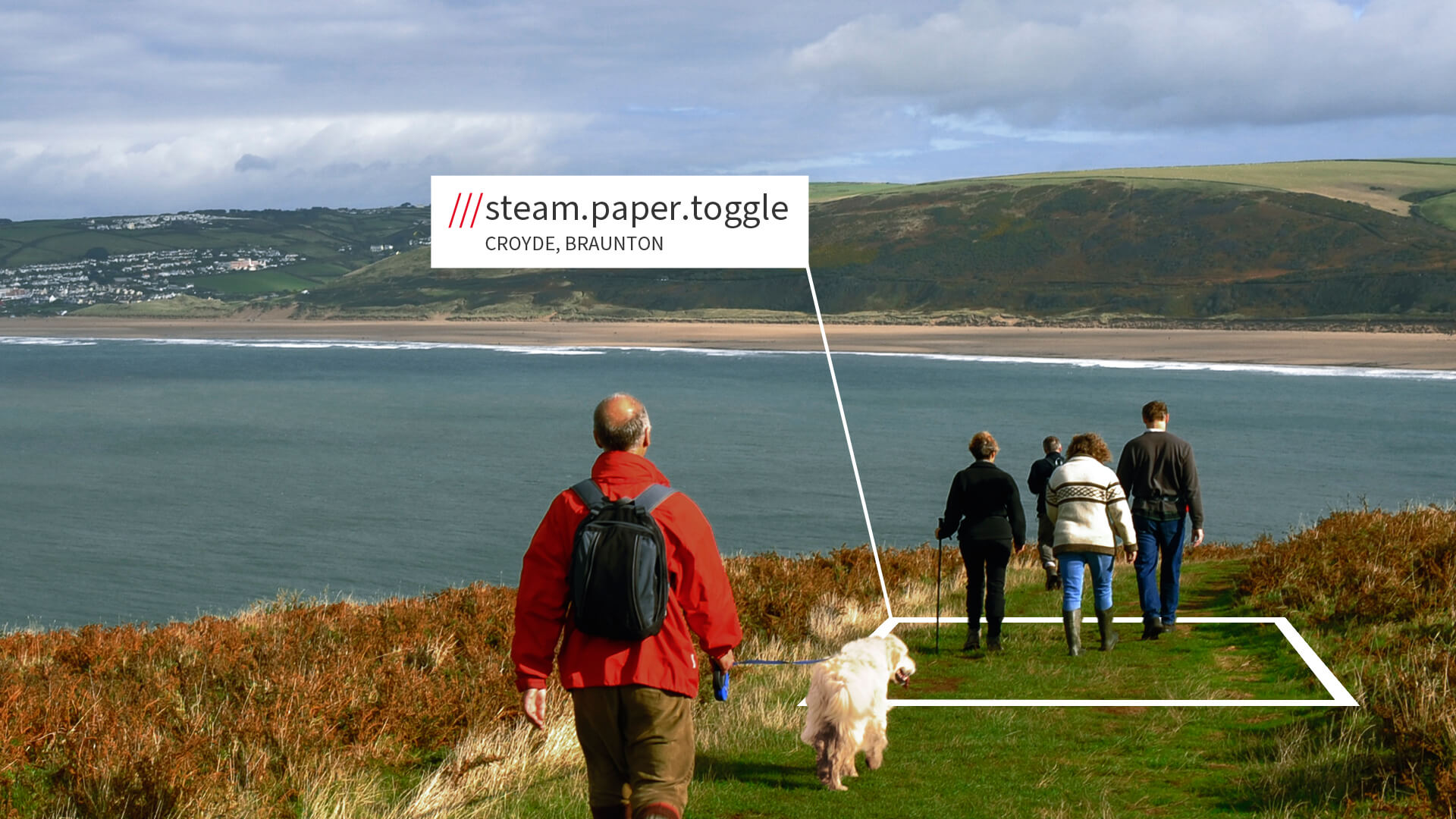Hiking the coastline in Croyde with what3words