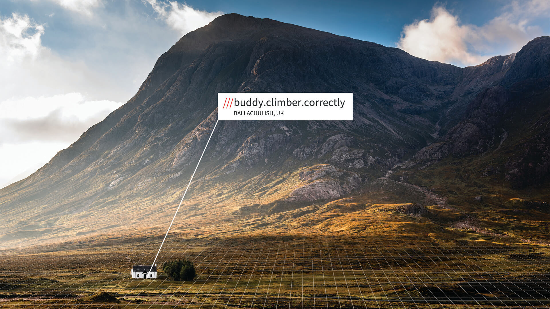 Isolated house with what3words address in Scottish Highlands