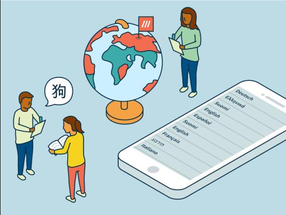 Languages team illustration