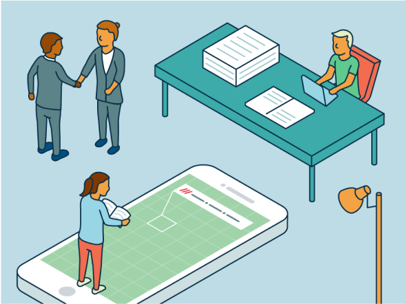 Legal team illustration