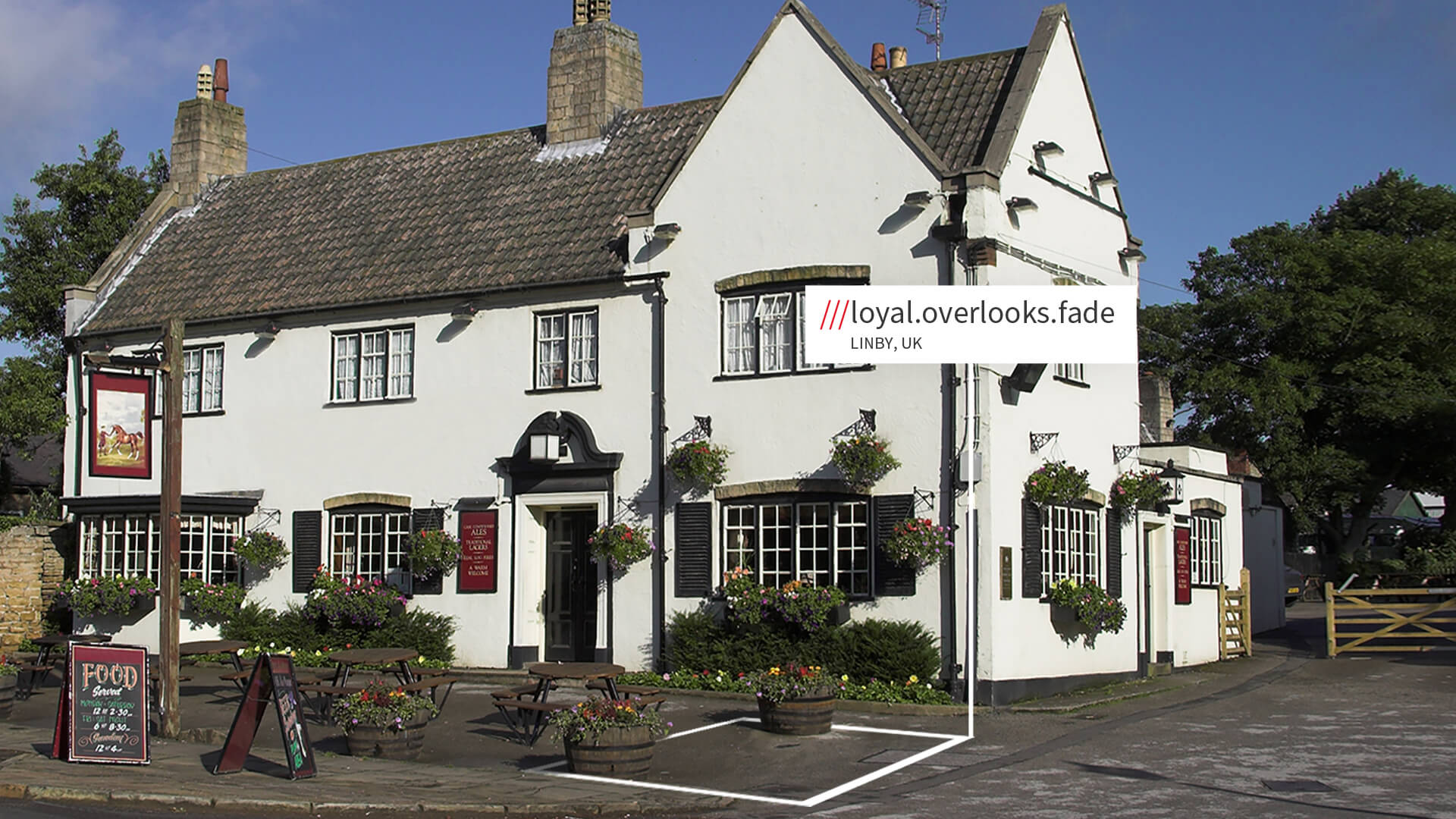 Linby country pub with what3words address