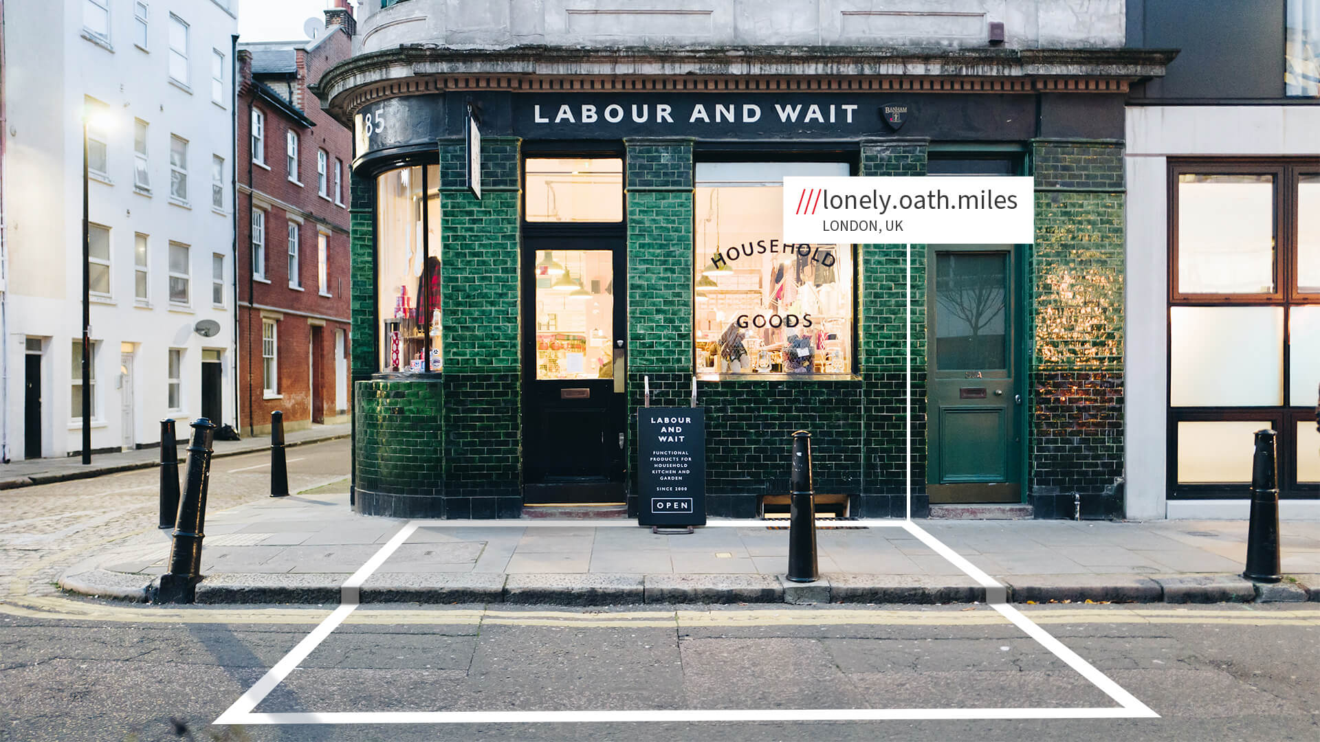 London shop with what3words address