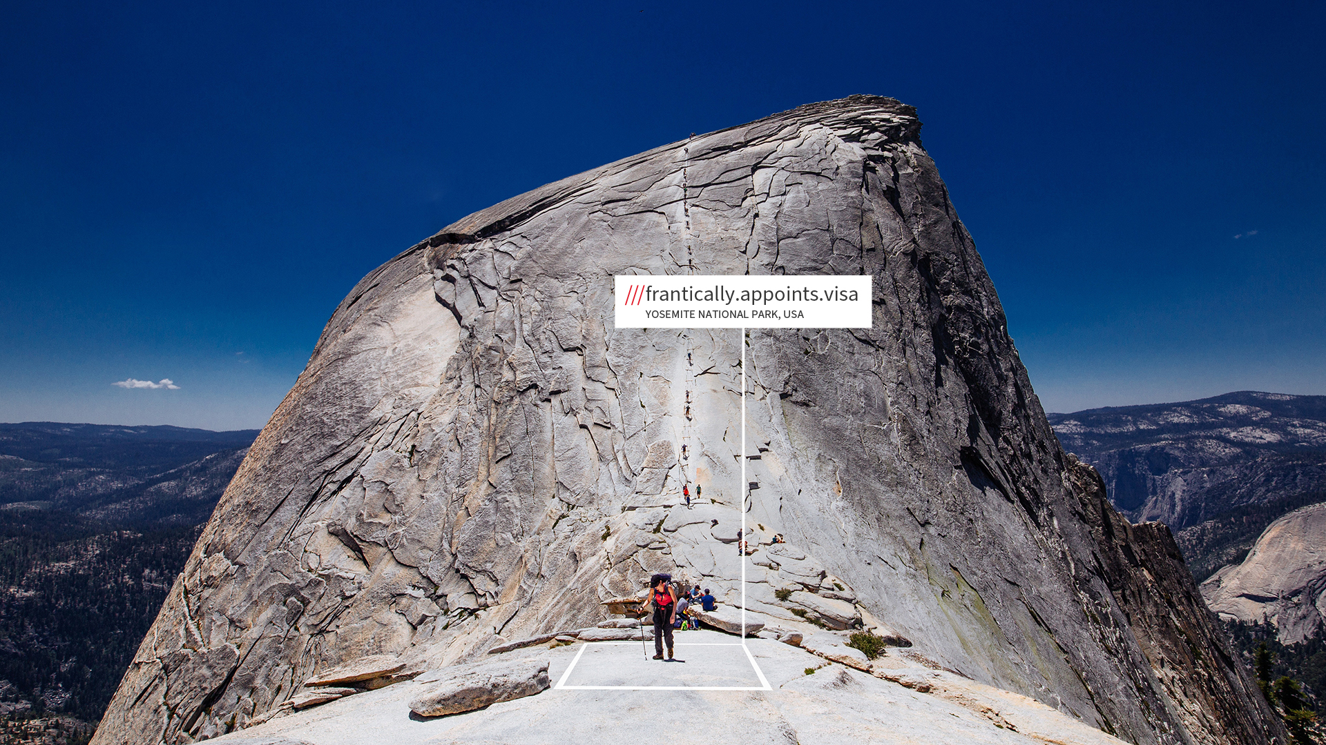 Yosemite National Park with what3words address