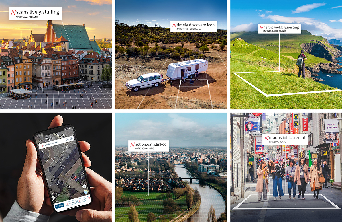 Selection of what3words navigation images
