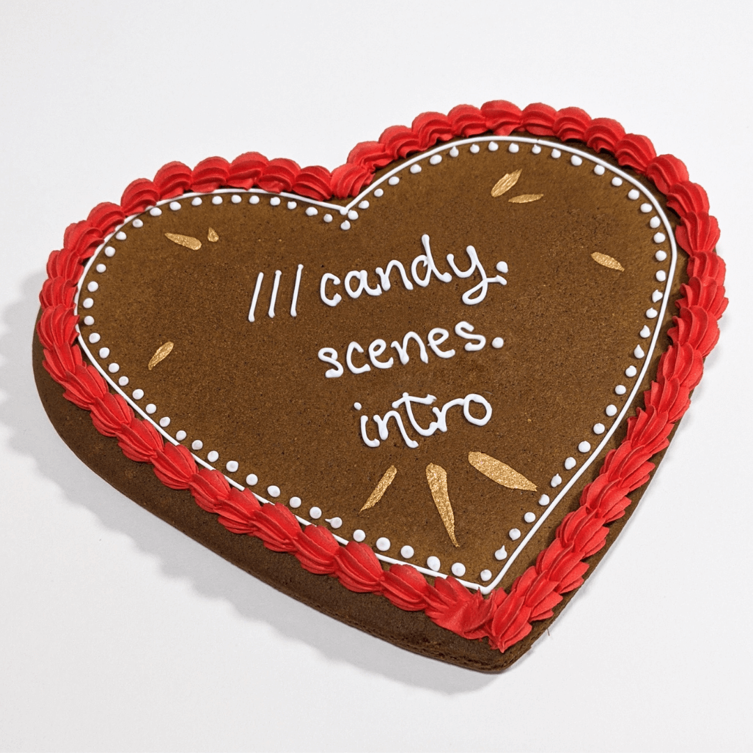 Maid of GIngerbread heart with what3words address
