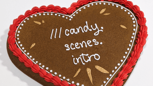 Maid of Gingerbread giant heart with what3words address