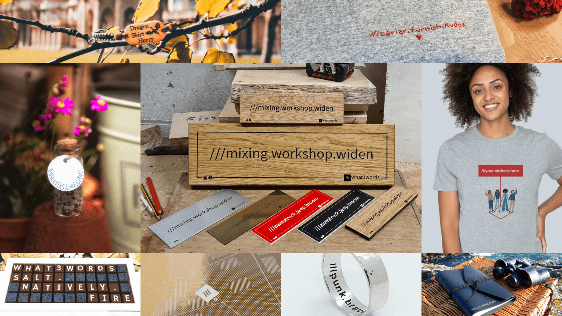 Personalised gifts made with what3words