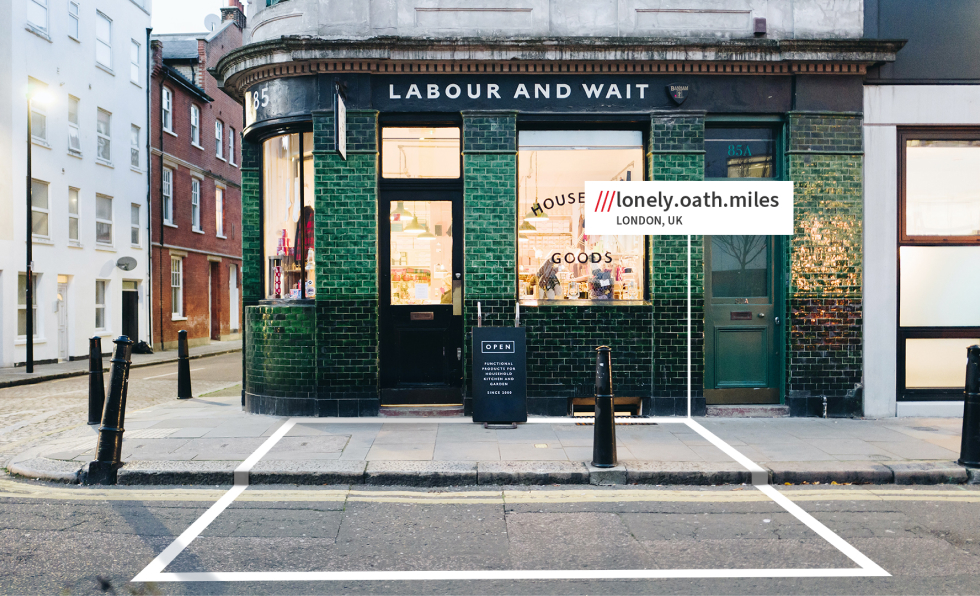 what3words address of pub delivery drop-off entrance