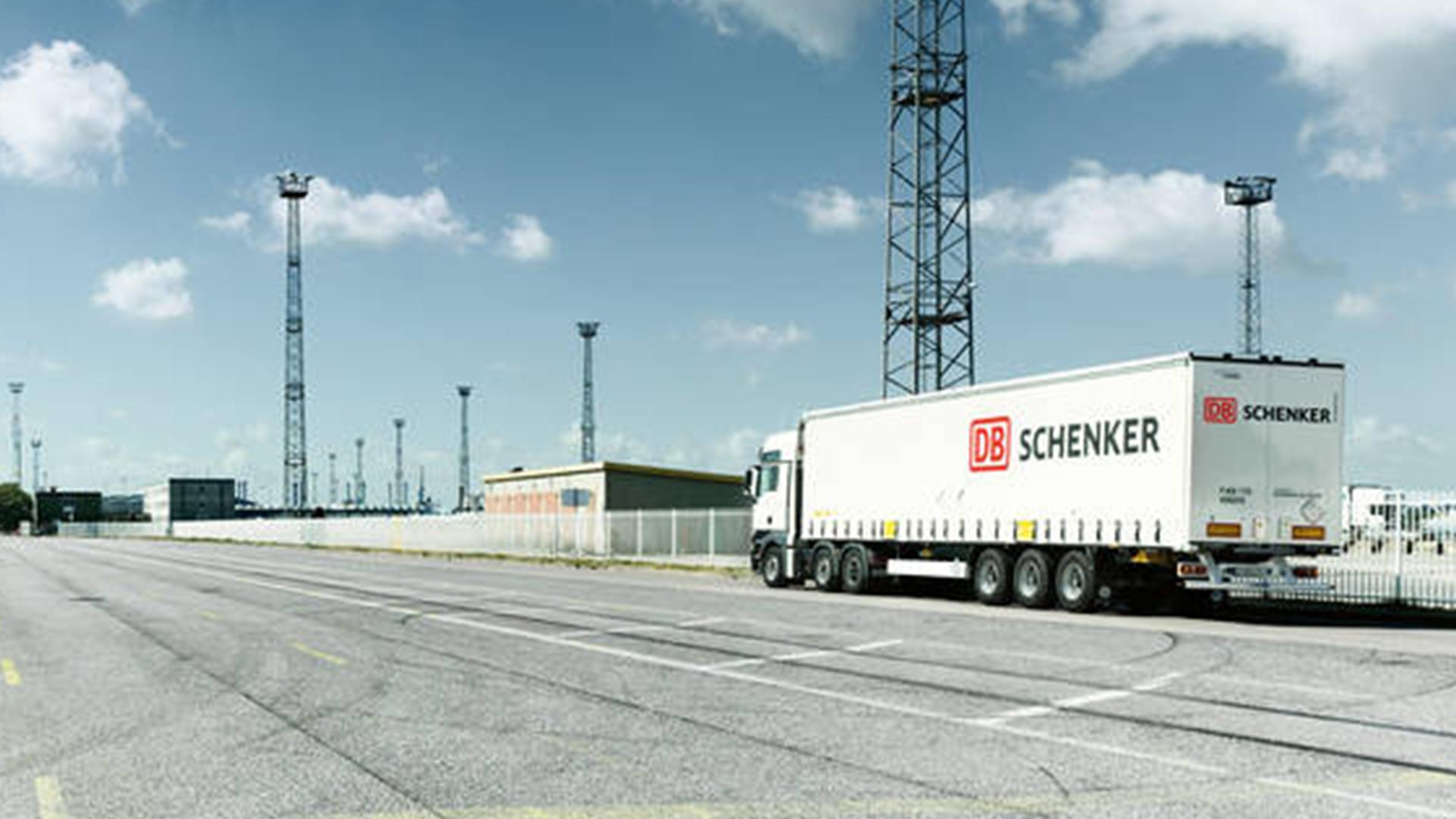 DB Schenker truck on highway