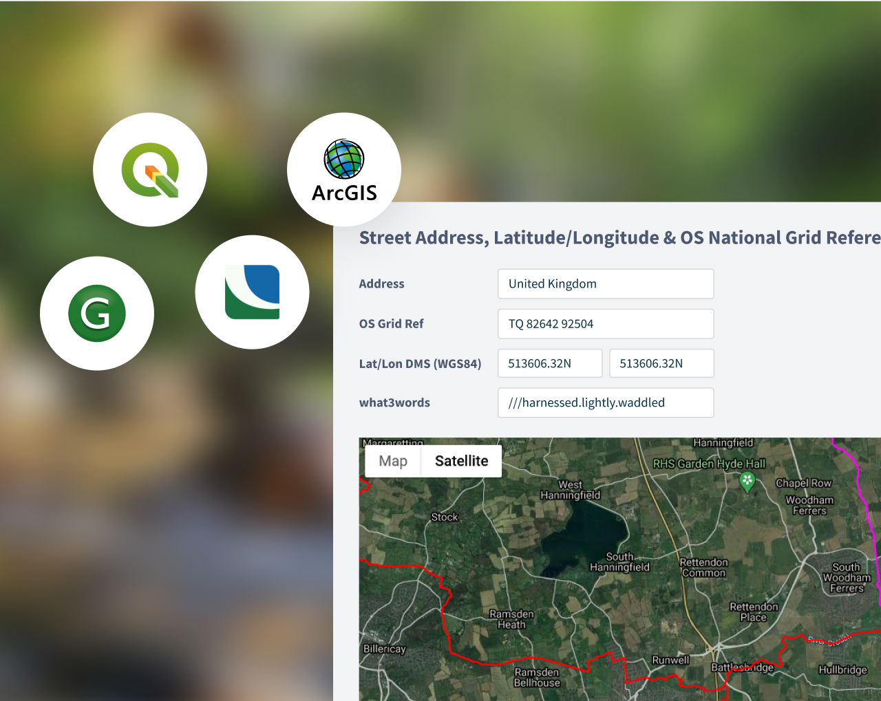 what3words with GIS