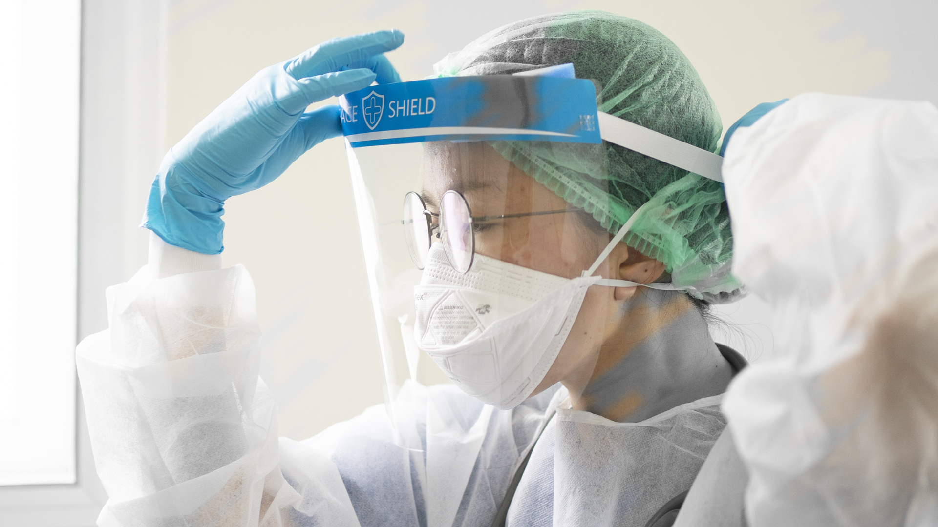 Hospital working in PPE equipment