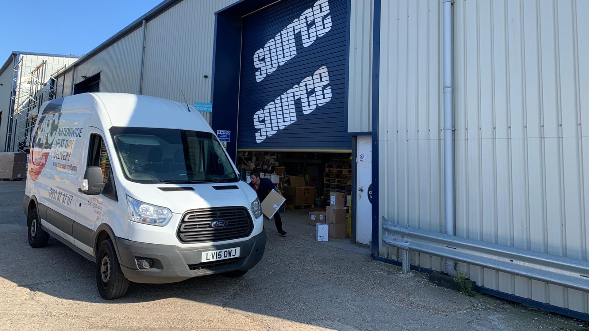 Source van picking up products